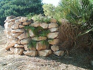 Puesto de piedra.